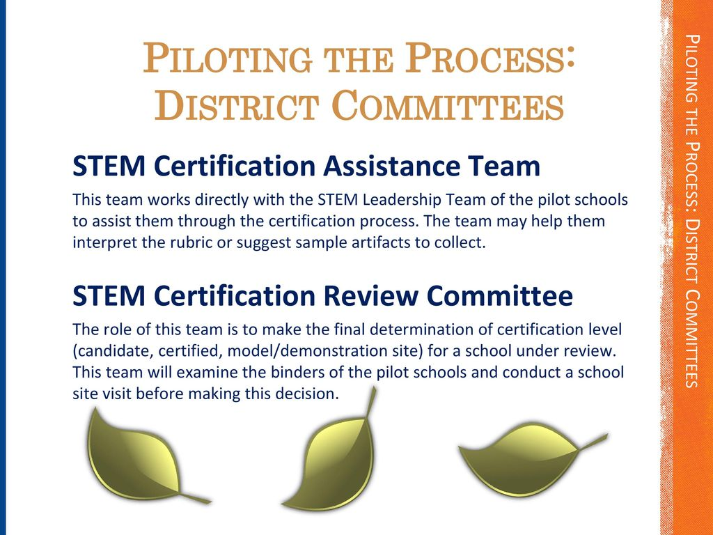 A productive partnership ppt download the stem certification process pilot 4 piloting xflitez Image collections