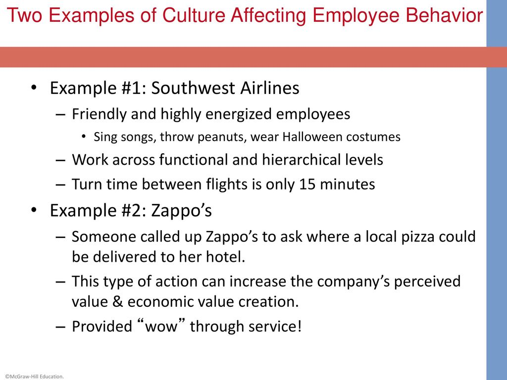 southwest airlines organizational behavior Southwest airlines is known for its unique approaches to employee  full of  videos by employees talking about the culture of the company.