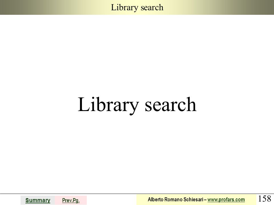 Library search Library search