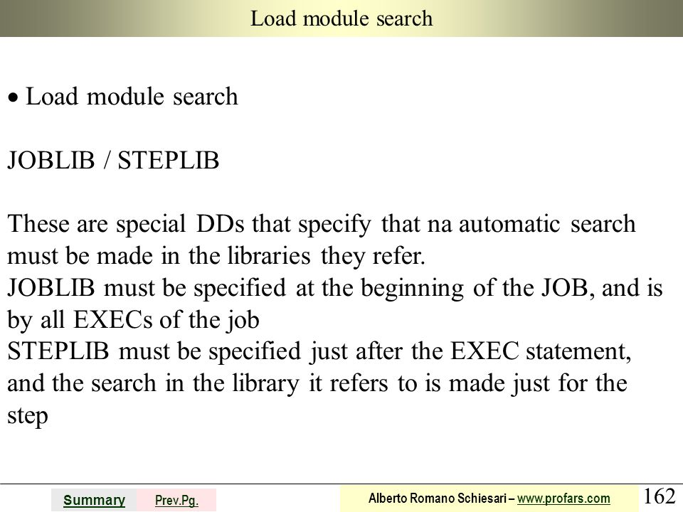 Load module search JOBLIB / STEPLIB