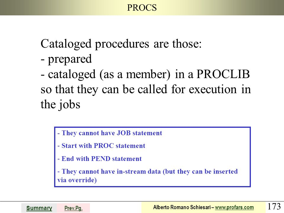 Cataloged procedures are those: prepared