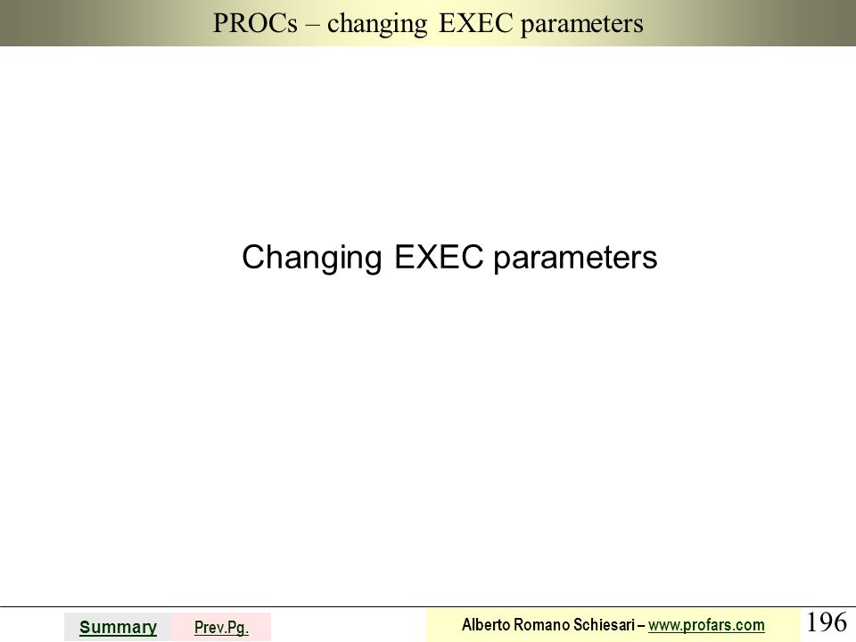 PROCs – changing EXEC parameters