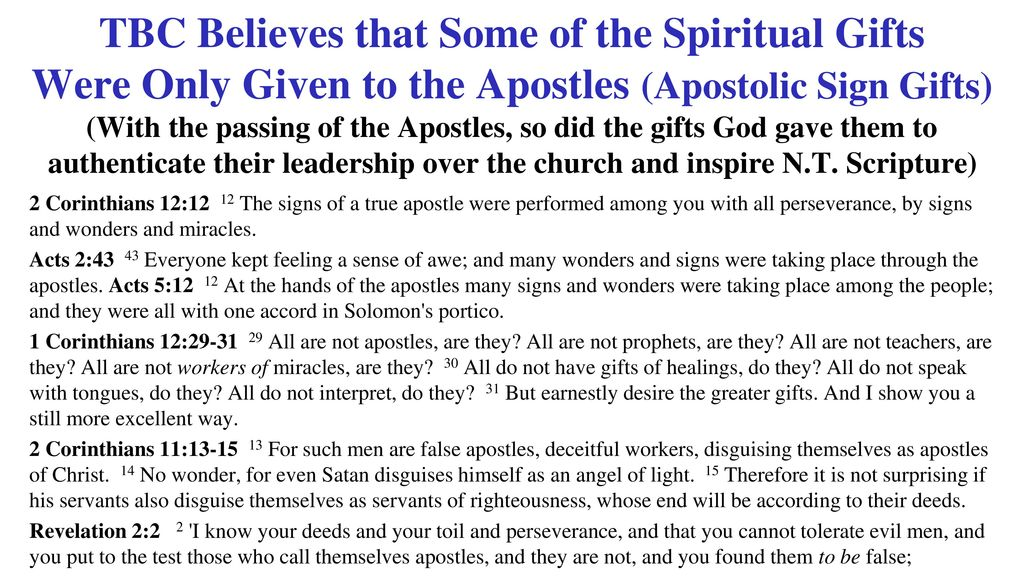 Matthew 22 and he said to him you shall love the lord your god tbc believes that some of the spiritual gifts were only given to the apostles apostolic negle Images
