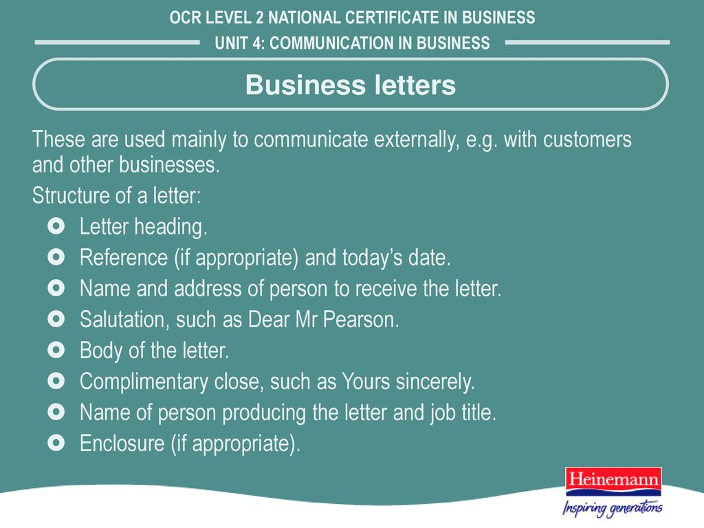 Methods of communicating ppt download business letters these are used mainly to communicate externally eg with customers and other businesses aljukfo Image collections