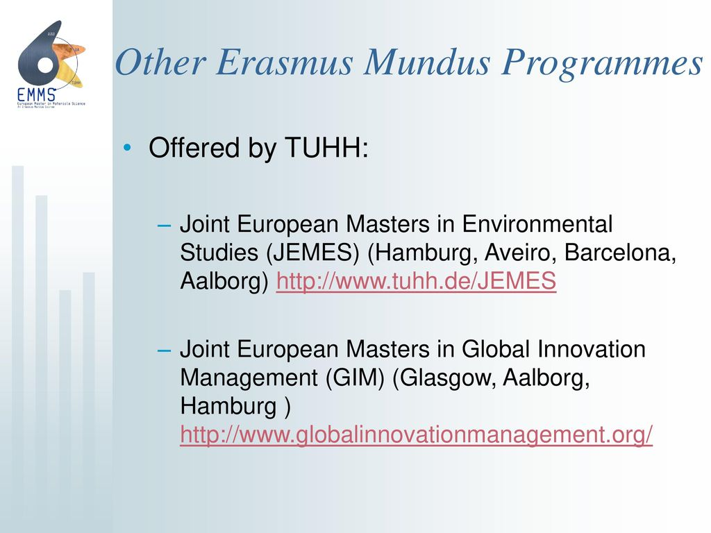 10 Other Erasmus Mundus Programmes Offered by TUHH: Joint European Masters  in Environmental Studies ...