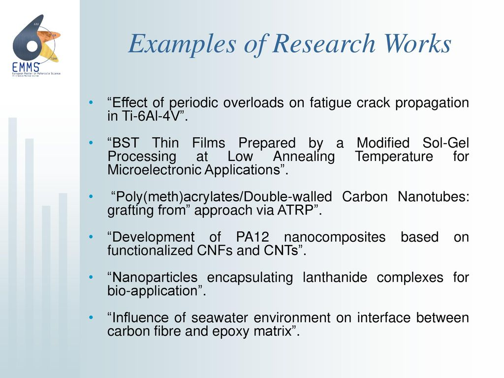 Examples of Research Works