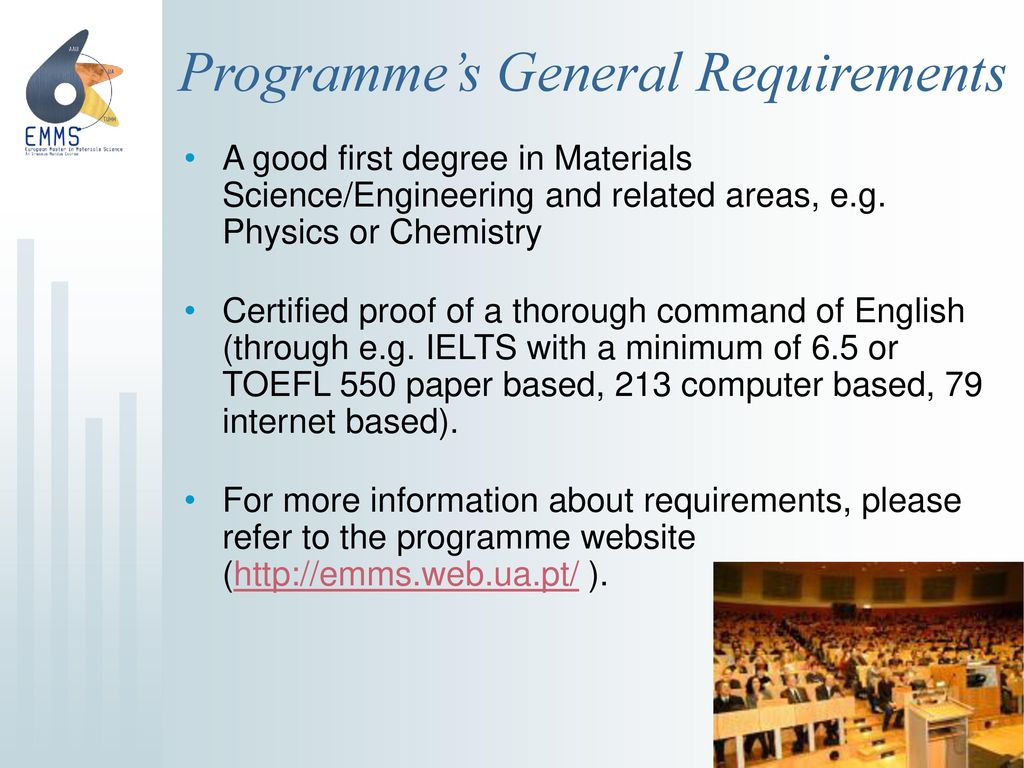 Programme's General Requirements