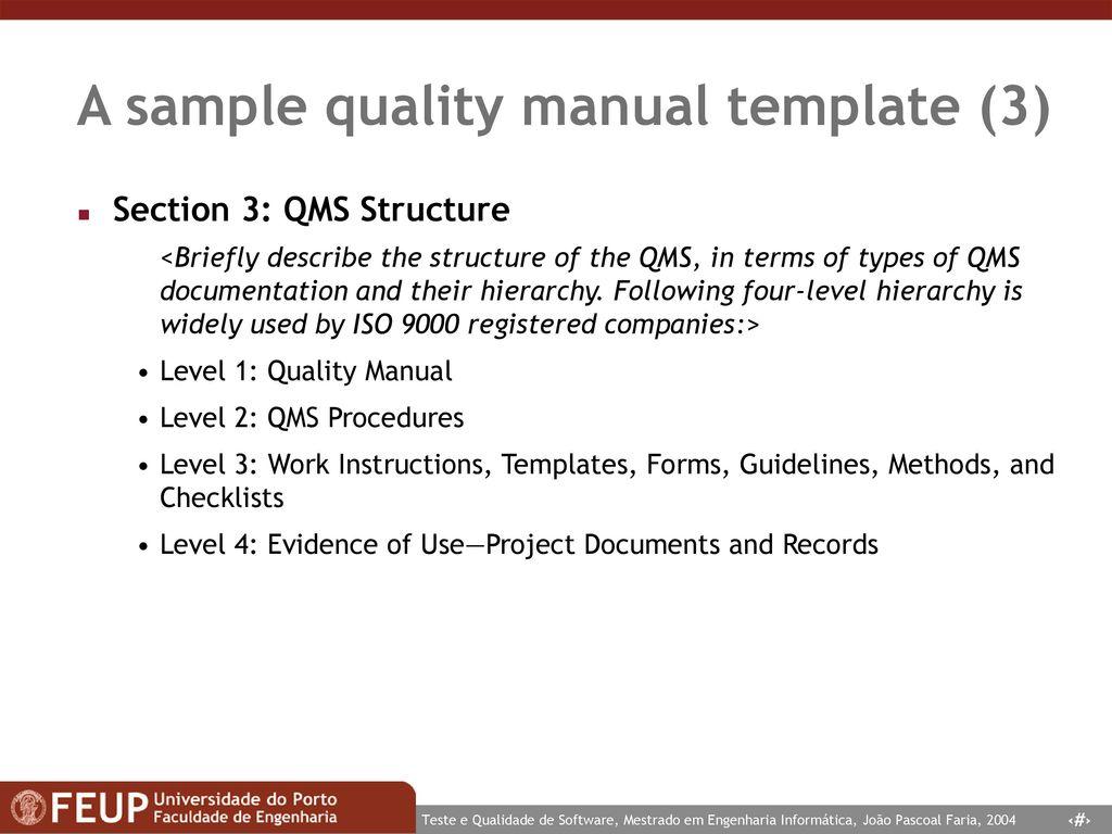 Fancy Qms Manual Template Gift - Resume Ideas - namanasa.com