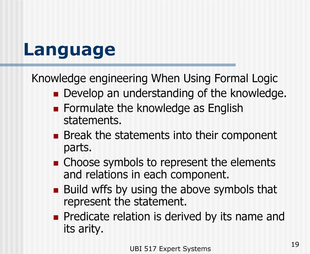 Knowledge representation ppt download language knowledge engineering when using formal logic biocorpaavc