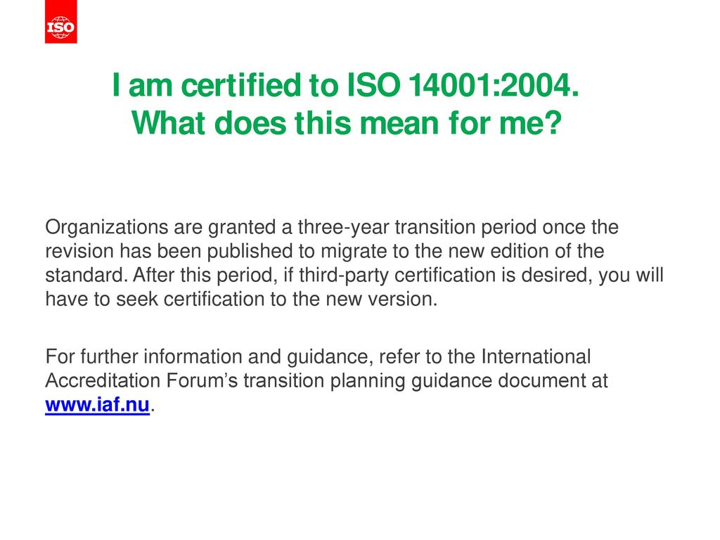 Iso 14001 ppt download i am certified to iso 140012004 what does this mean for me 1betcityfo Choice Image