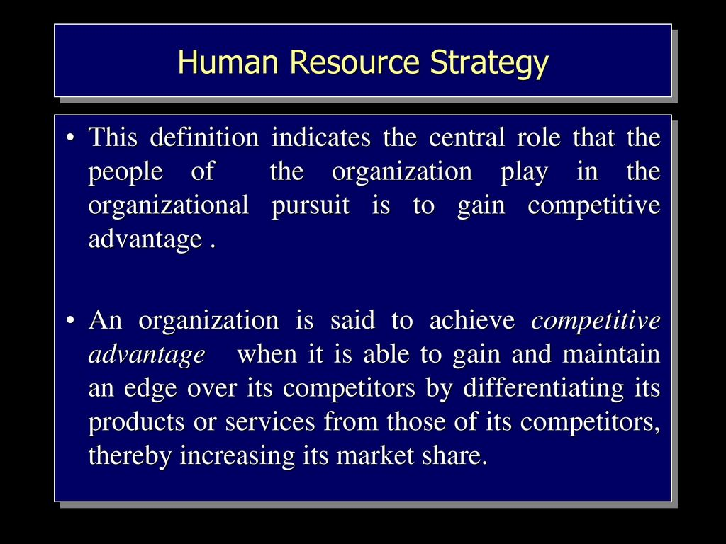 human resources and it
