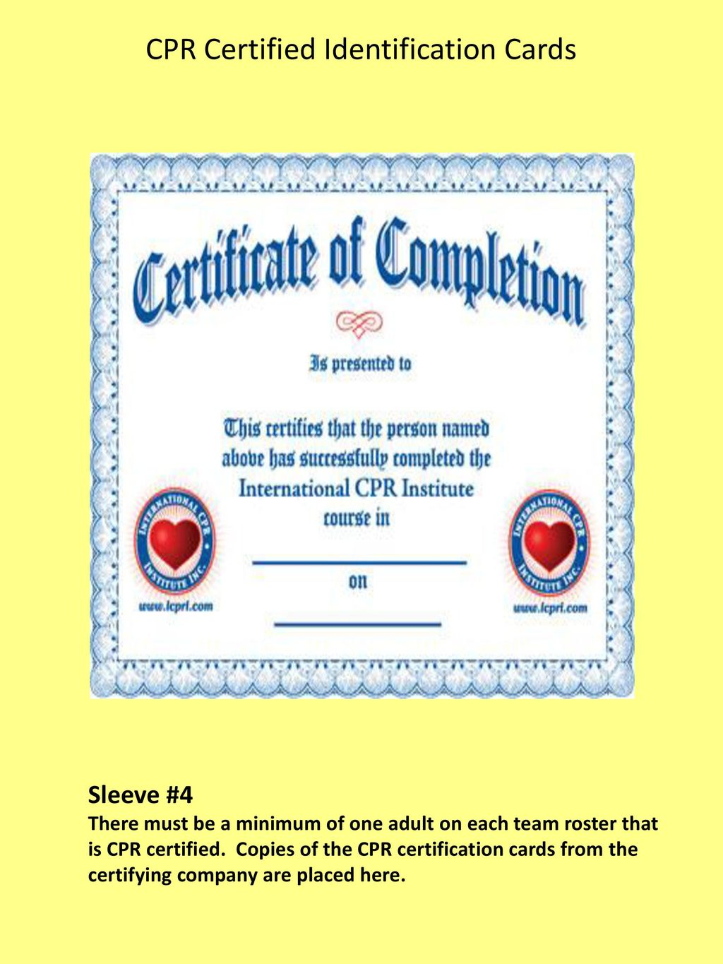 Southeast region pop warner ppt download cpr certified identification cards xflitez Image collections