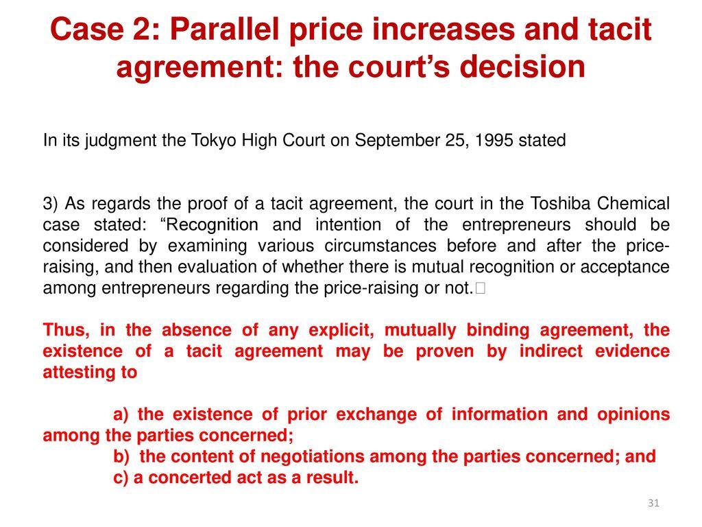 Tacit Agreement 78485 Enews
