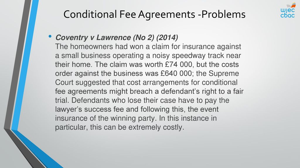 Access to justice and funding ppt download conditional fee agreements problems pronofoot35fo Images