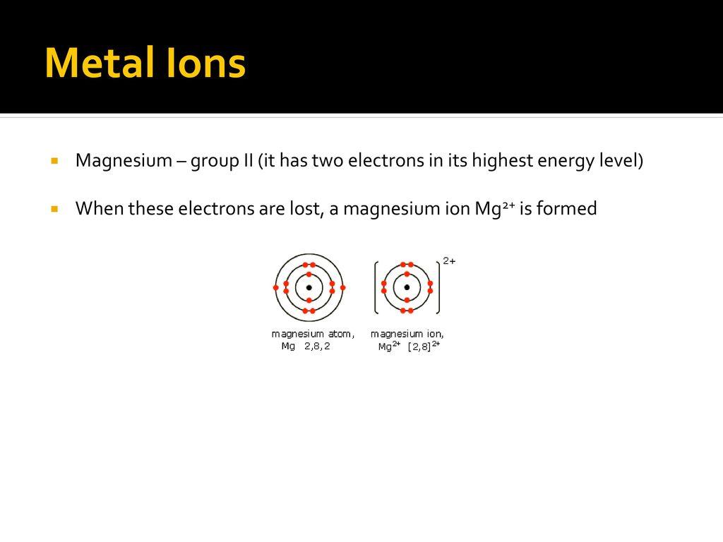 Ionic bonding noadswood science ppt download 11 metal ions magnesium biocorpaavc