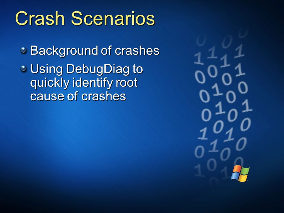 Crash Scenarios Background of crashes