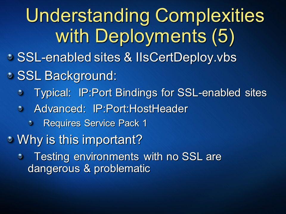 Understanding Complexities with Deployments (5)
