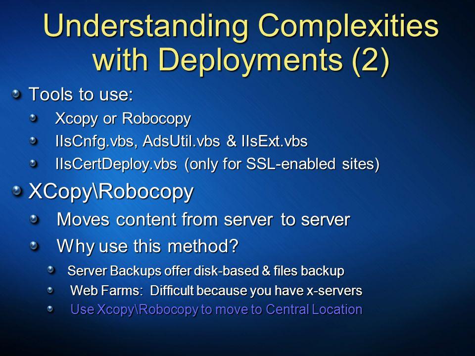 Understanding Complexities with Deployments (2)