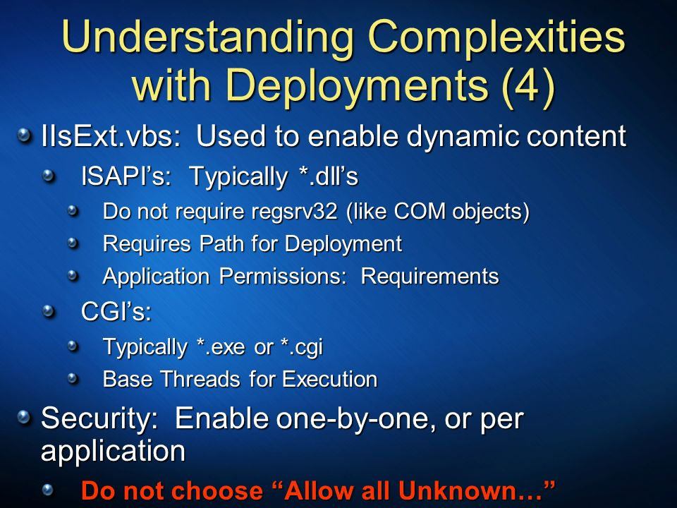 Understanding Complexities with Deployments (4)