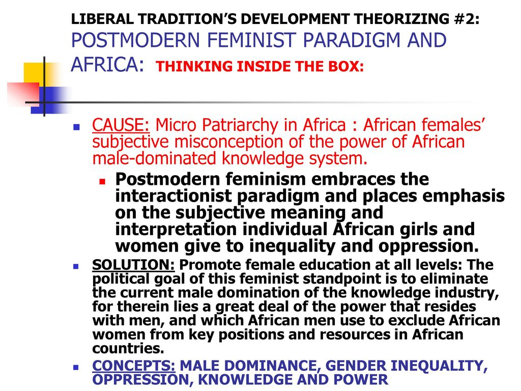 male dominance and female oppression in Feminism and race in the united states  but also with the dominant and privileged white male norms  are steeped in practices of racial oppression and.