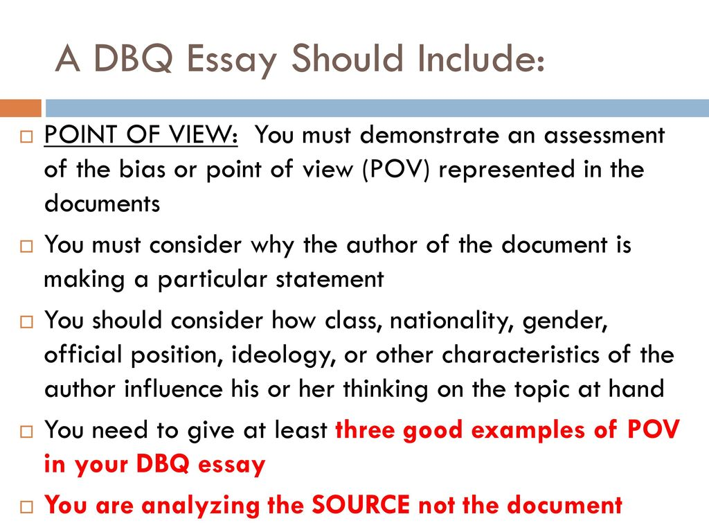 example of dbq essay