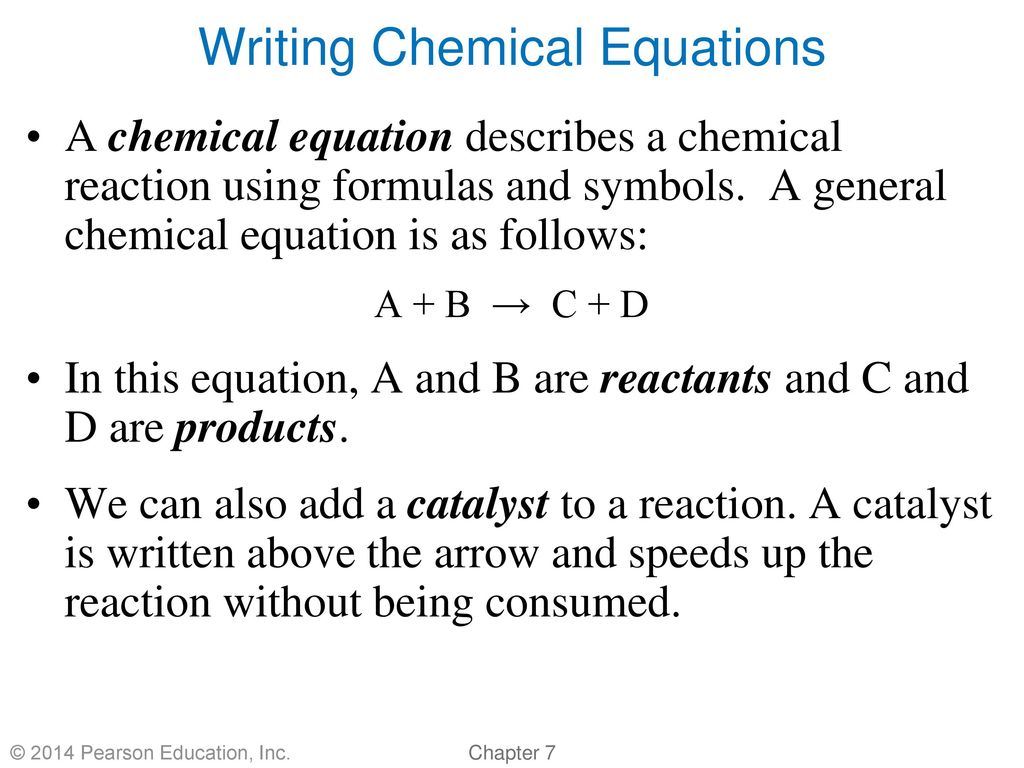 Chapter 7 chemical reactions by christopher g hamaker ppt download writing chemical equations biocorpaavc Choice Image