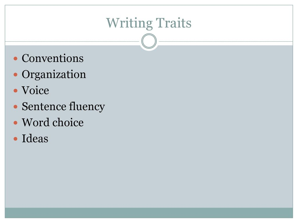 61 writing traits organization