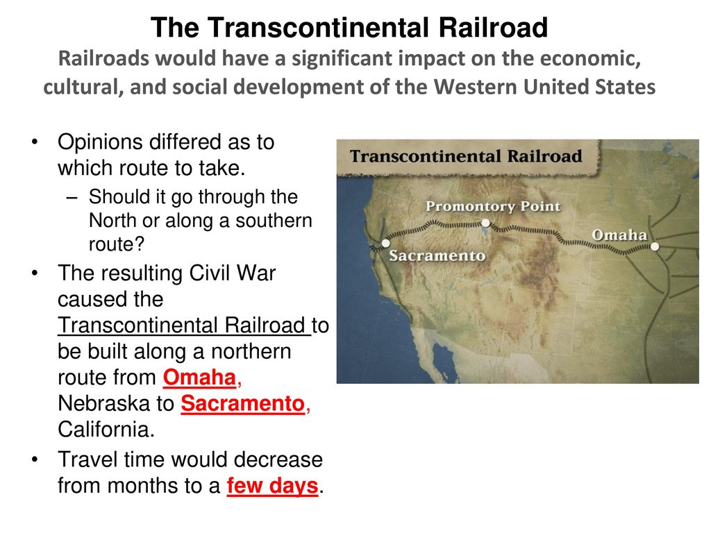 the importance of the railroads development to society Railroads had a huge impact on the development of the united states, economically, socially, and politically.