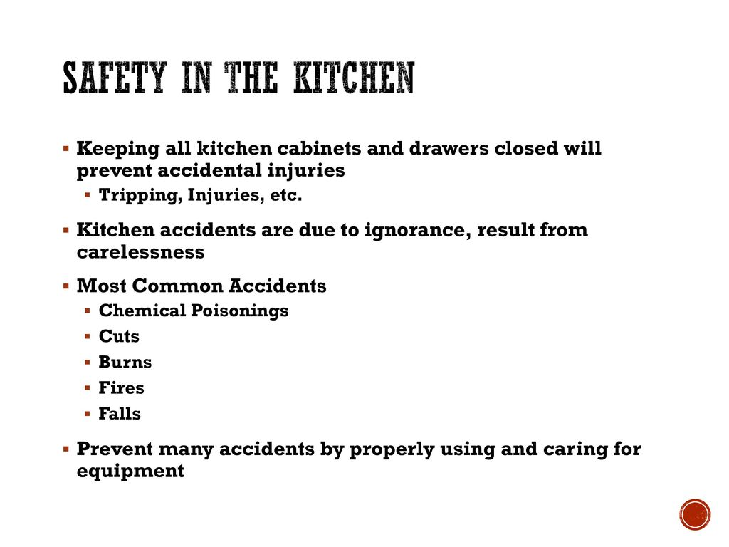 Chapter 6: Safety In The Kitchen - ppt download