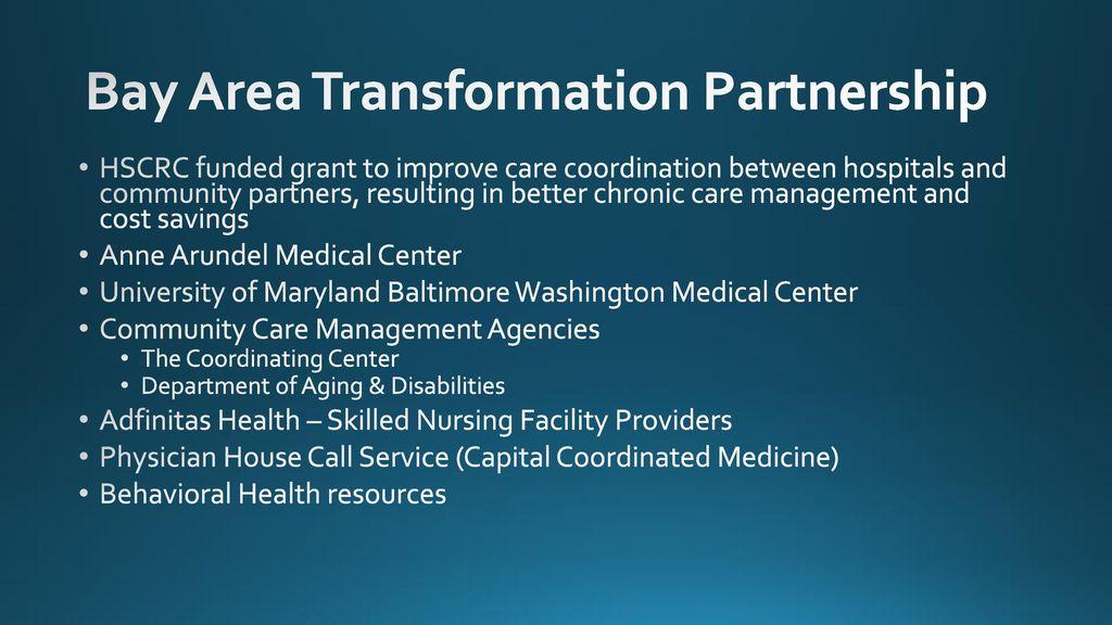 Bay Area Transformation Partnership Advantages of Cross ...