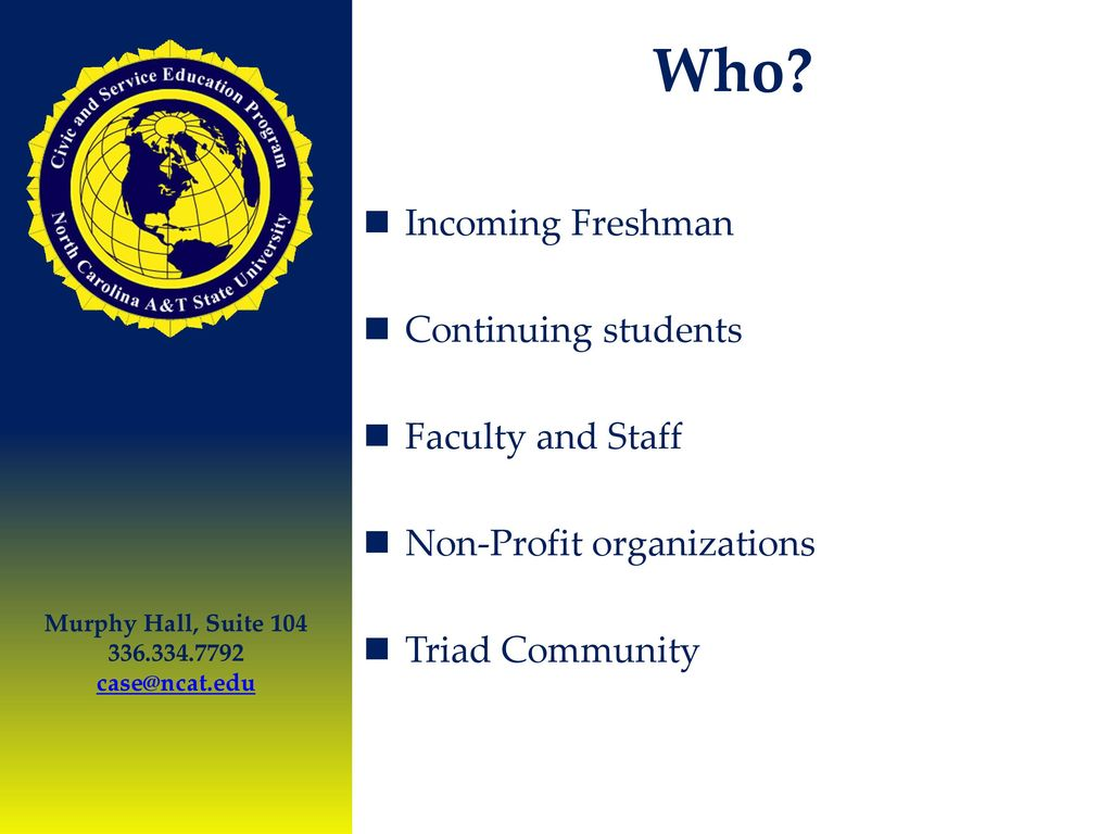 Civic and Service Education Program C.A.S.E - ppt download