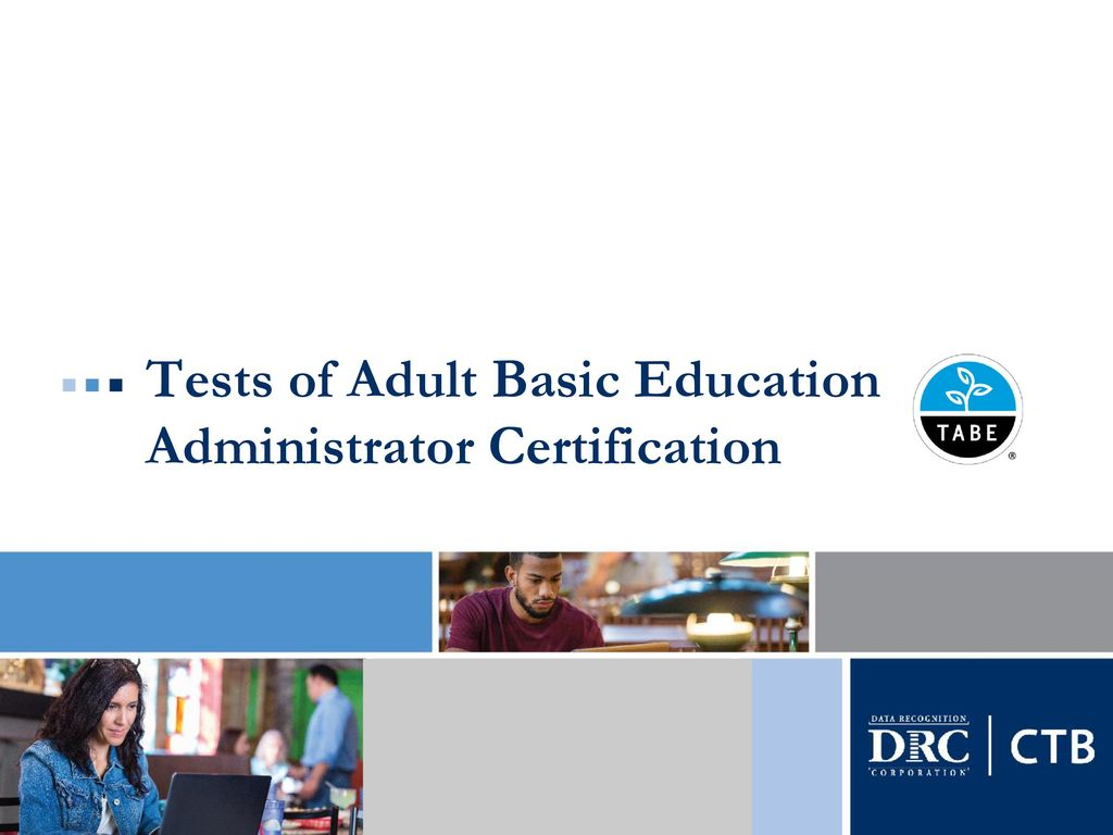 Think, that tests of adult basic education