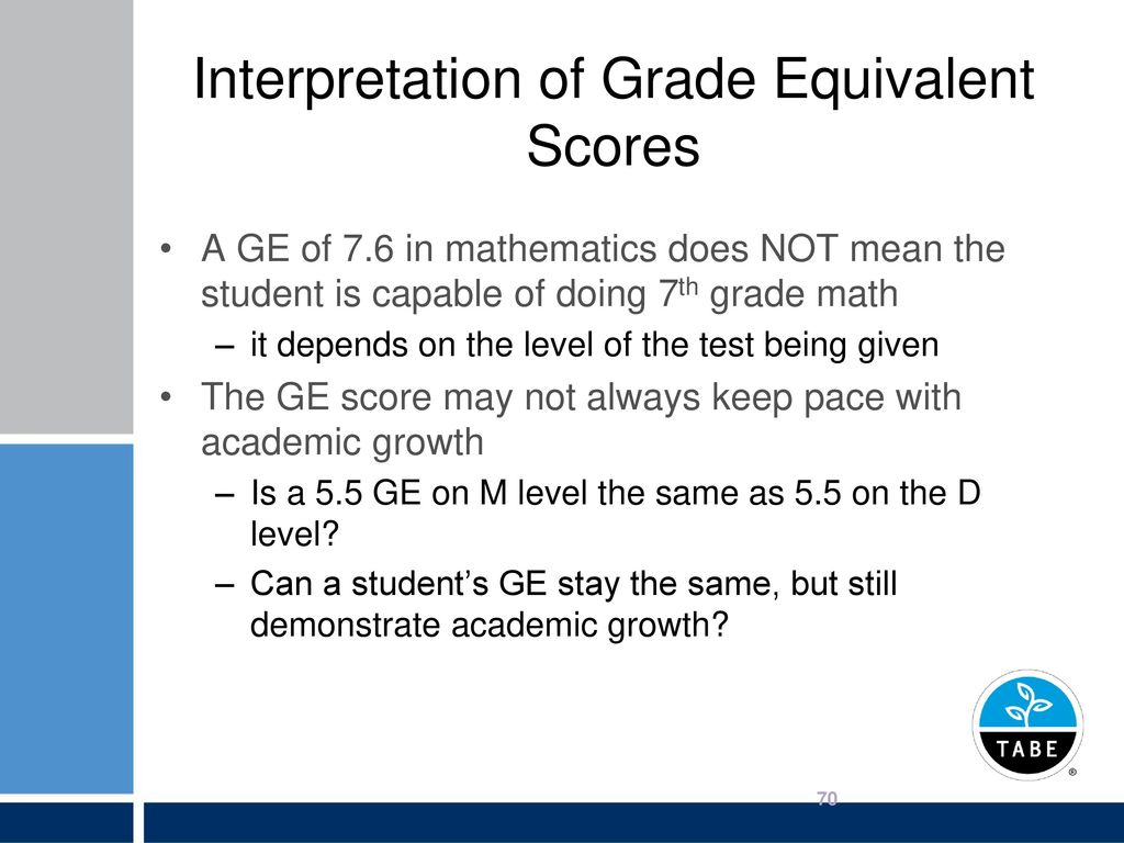Tests of adult basic education administrator certification ppt interpretation of grade equivalent scores nvjuhfo Gallery