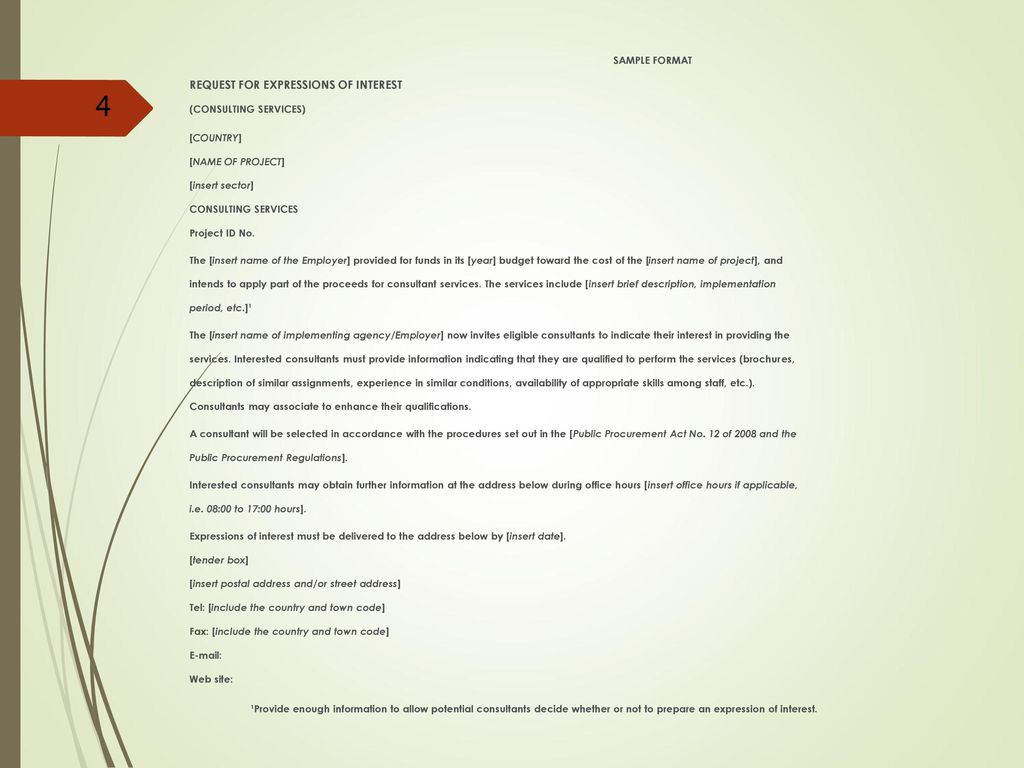 Letter of expression of interest for consultancy services choice letter of expression of interest for consultancy services choice letter of expression of interest for consultancy spiritdancerdesigns Choice Image