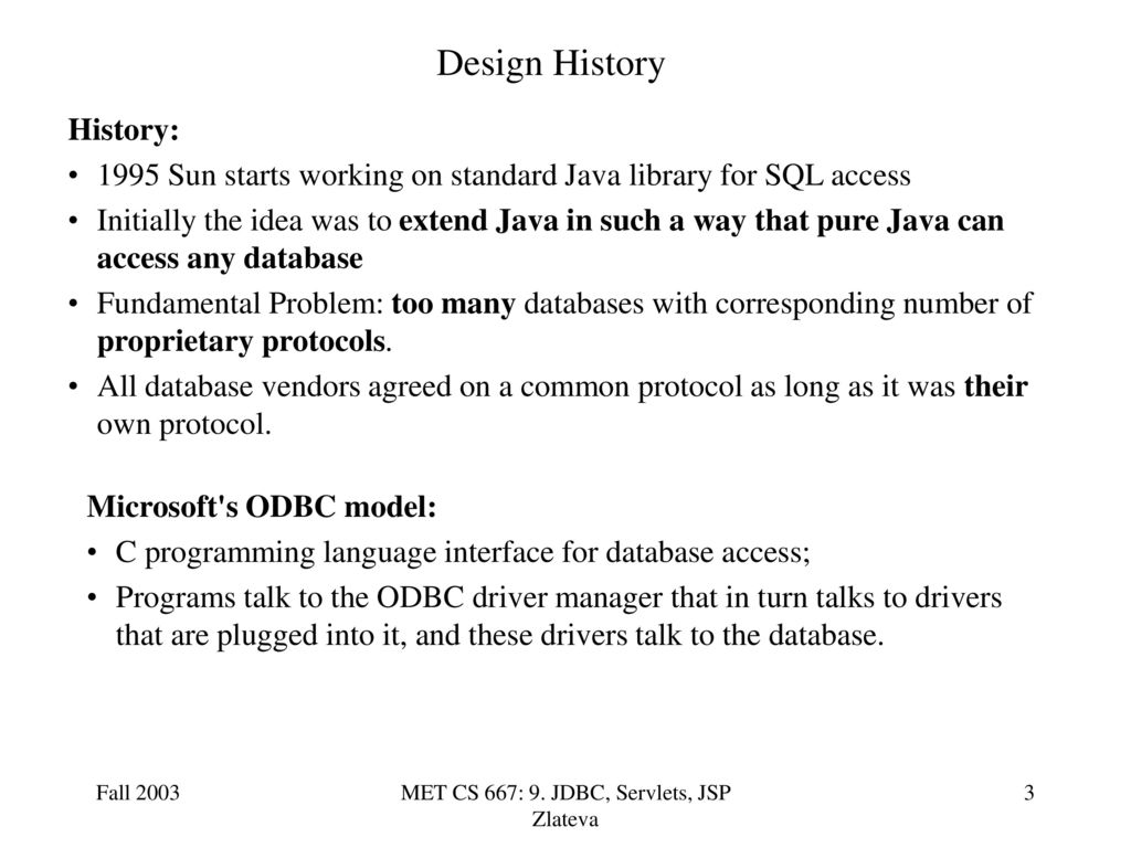 Met cs 667 9 jdbc servlets jsp zlateva ppt download jdbc servlets jsp zlateva baditri Gallery