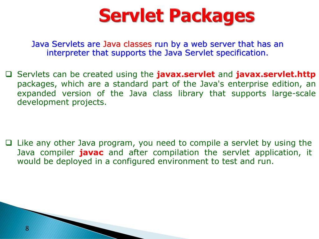 Lecture 8 etcs 308 subject teacher ms gunjan beniwal ppt 8 servlet packages java baditri Images