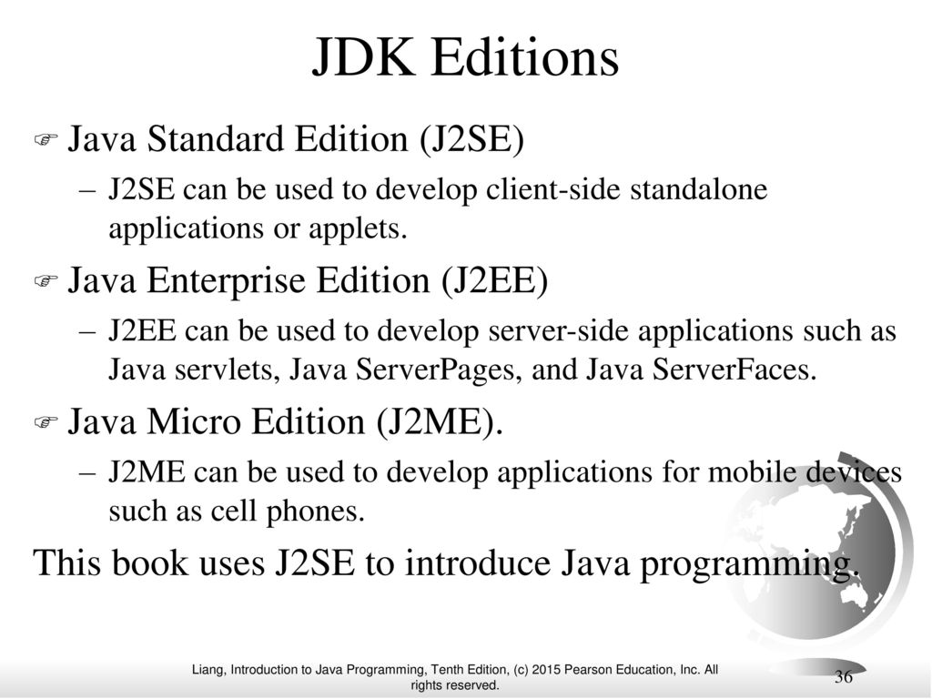 Chapter 1 introduction to computers programs and java ppt video jdk editions java standard edition j2se baditri Gallery
