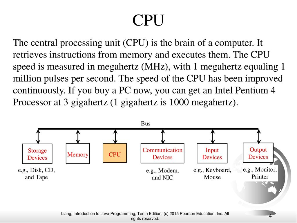Chapter 1 introduction to computers programs and java ppt 4 cpu pooptronica Gallery