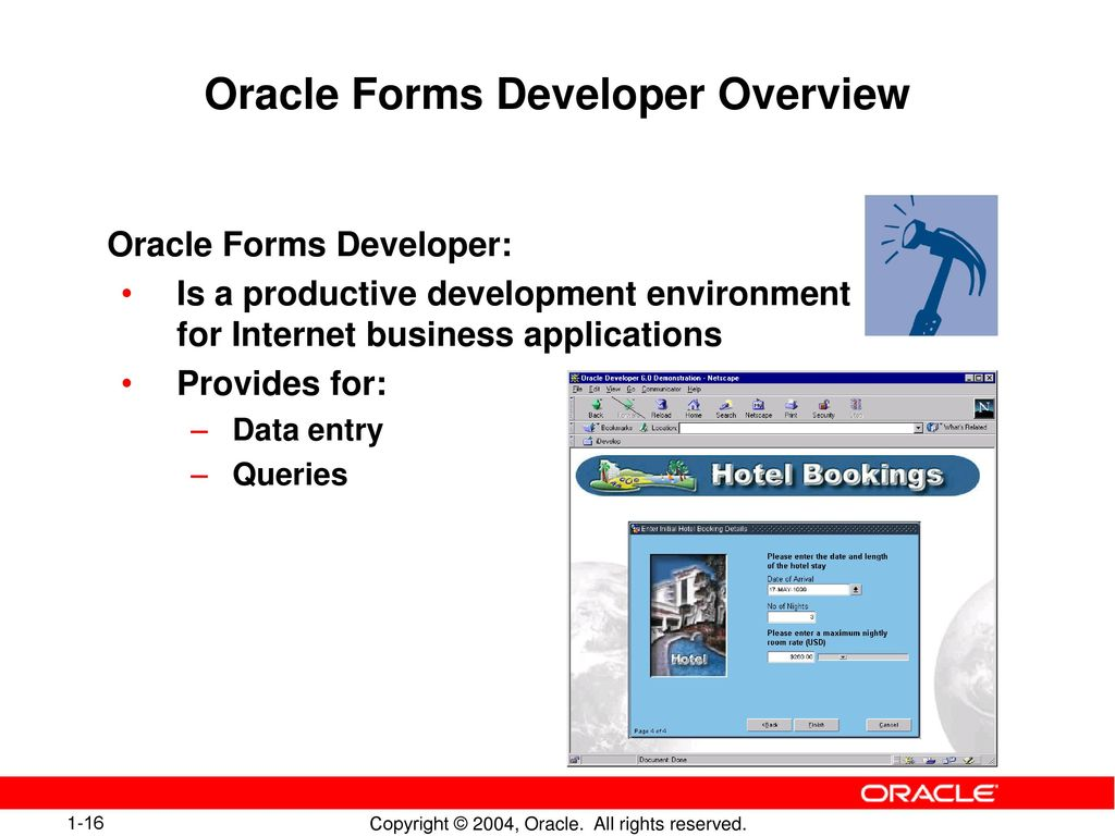 Introduction to oracle forms developer and oracle forms services 16 oracle forms developer overview baditri Image collections