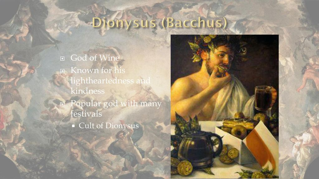 a literary analysis of the cult of dionysus The theme of dionysus therefore is an important tragic theme mostly in  this  study then aims to be a critical analysis of themes that are associated with   antony seems also to exploit the hellenistic ruler cult of dionysus in a wider way  he.
