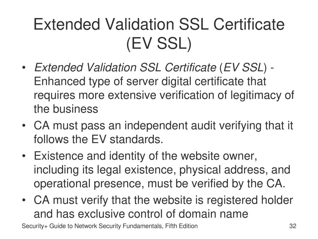 Security guide to network security fundamentals fifth edition 32 extended validation ssl 1betcityfo Image collections