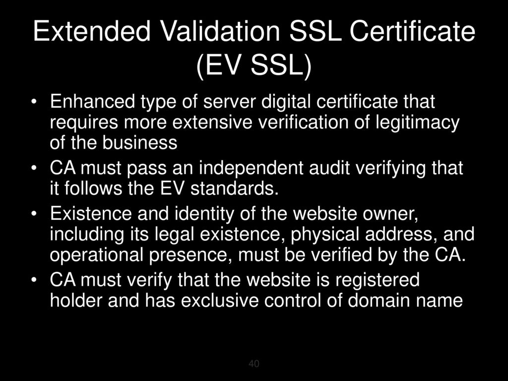 Chapter 8 cryptography part 2 ppt download 40 extended validation ssl xflitez Gallery
