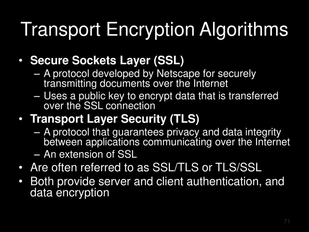 Chapter 8 cryptography part 2 ppt download transport encryption algorithms 1betcityfo Choice Image