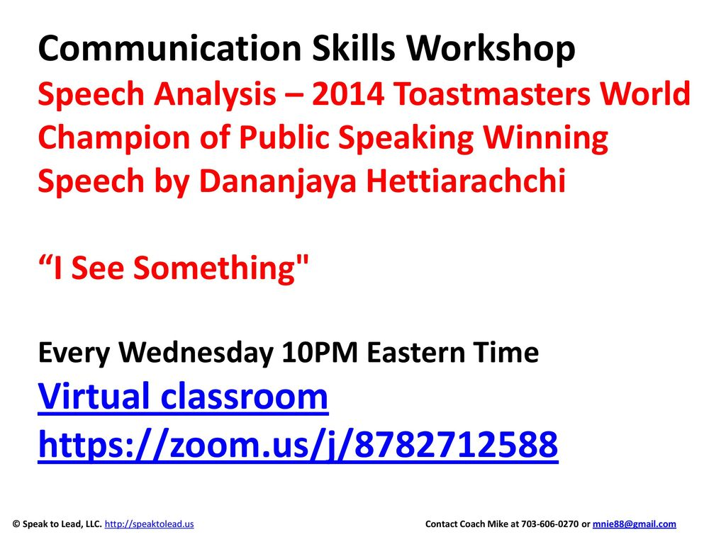 communication skills workshop speech analysis 2014 toastmasters world champion of public speaking winning speech by