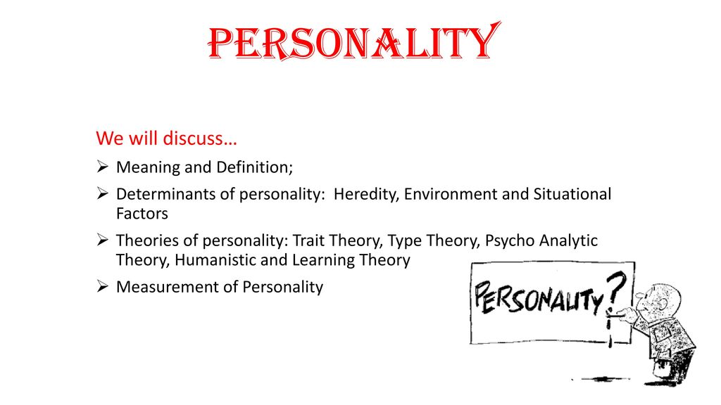 Personality We Will Discussu2026 Meaning And Definition;