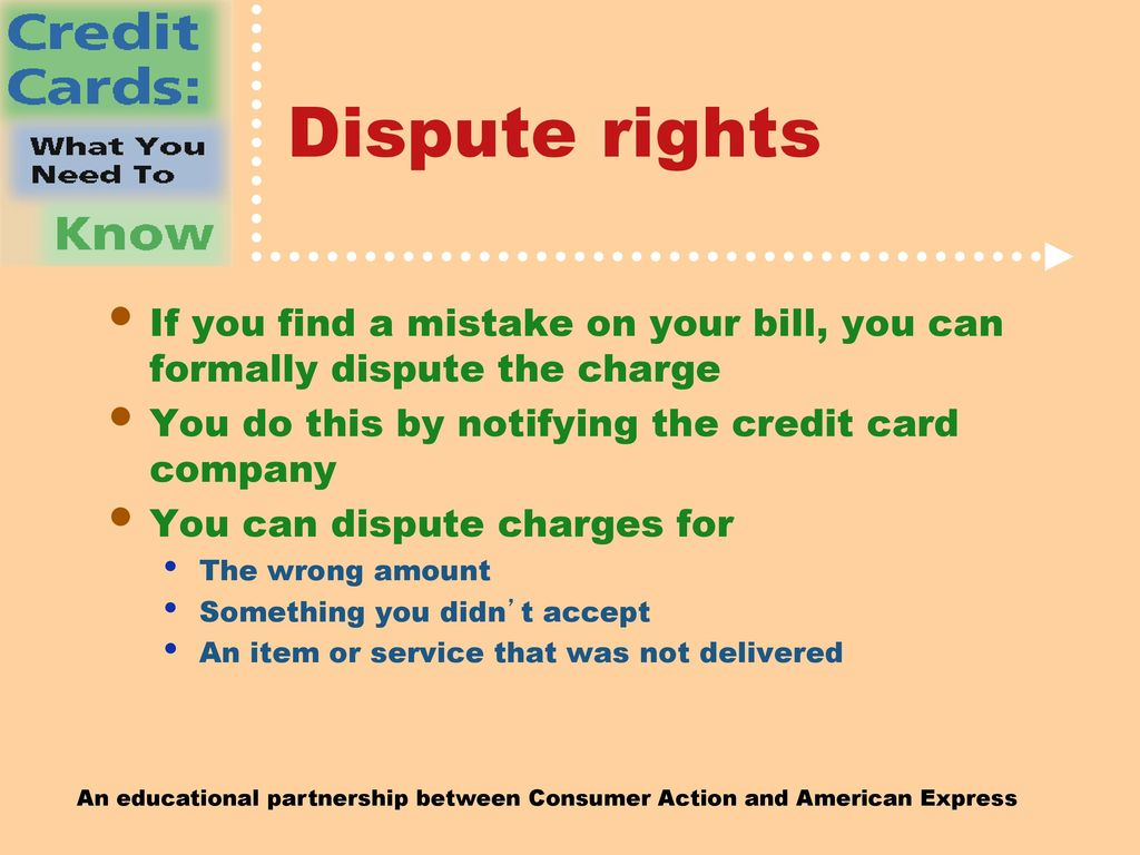 how to dispute charges on credit card