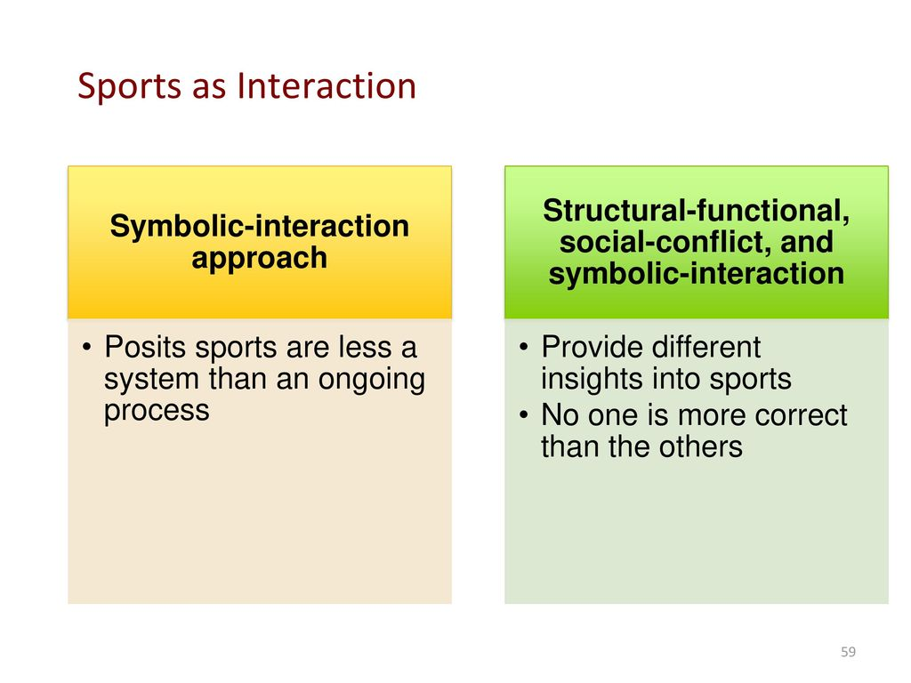 Sociology perspective and theory ppt download 59 sports as interaction symbolic interaction approach biocorpaavc Image collections