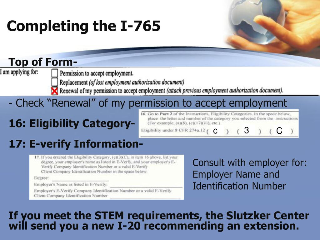 Optional practical training seminar ppt download completing the i 765 top of form falaconquin