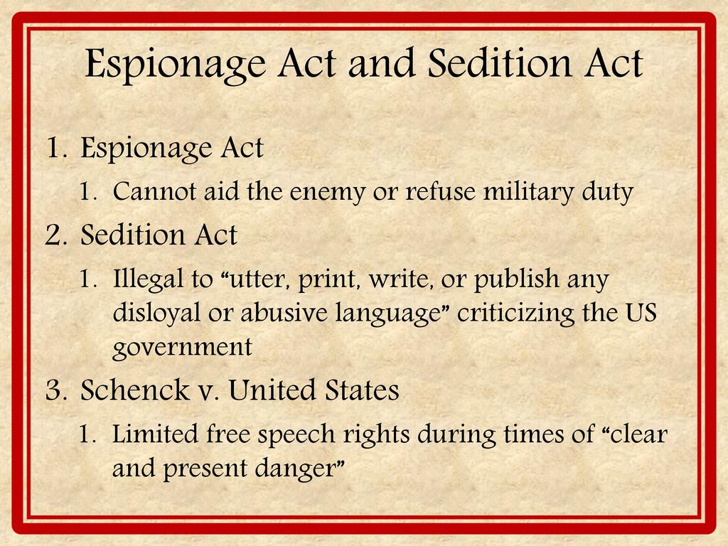 sedition act I wanted to write a book that took the supporters of the alien and sedition acts  seriously and not simply dismiss them as party hacks who would.