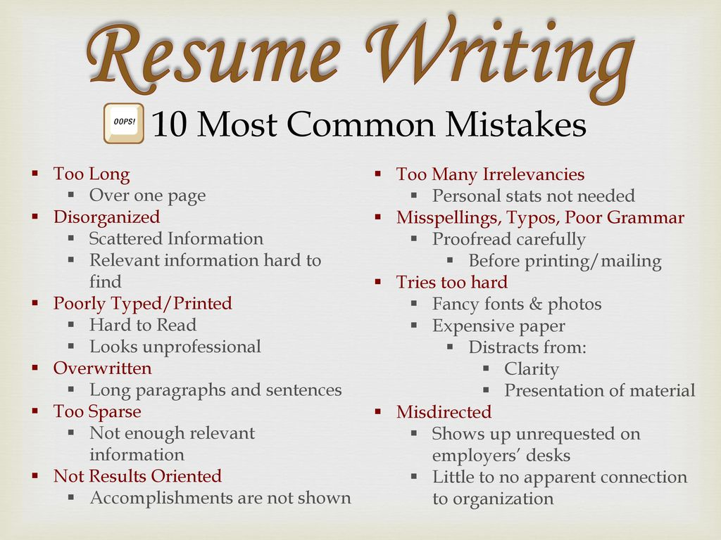 How to Avoid Common Resume Mistakes